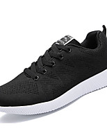 Men's Shoes Tulle Spring Fall Comfort Light Soles Athletic Shoes Lace-up For Athletic Casual Blue Gray Black