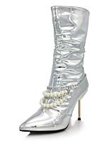 Femme Chaussures Paillette Brillante Microfibre Automne Hiver Nouveauté Bottes à la Mode Bottes Talon Aiguille Bout pointu Bottes