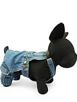 Cane Imbracature Abbigliamento per cani Casual Tinta unita Blu scuro Azzurro chiaro