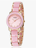 Women's Fashion Watch Quartz Alloy Band Vintage Black White Pink