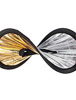 andoer 30cm 2in1 rotondo cavo cuscinetto multifunzione portatile circolare leggera riflettore argento argento