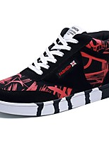 Men's Shoes PU Spring Fall Comfort Sneakers Lace-up For Athletic Black/Blue Black/Red Black/White