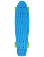 22.5 Inch Complete Skateboards Professional Plastics ABEC-5-Blue Solid