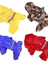 Cane Impermeabile Abbigliamento per cani Casual Tinta unita Giallo Rosso Blu Camouflage colore