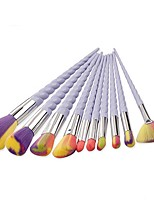 10 Makeup Brush Set Blush Brush Eyeshadow Brush Brow Brush Eyeliner Brush Eyelash Brush Fan Brush Powder Brush Foundation Brush Nylon
