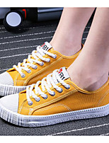 Women's Shoes Canvas Spring Summer Comfort Sneakers For Casual Green Yellow Black White
