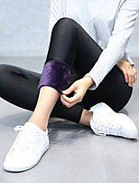 Women's Thick Solid Color Fleece Lined Sporty Legging,Solid