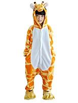 Kigurumi Pajamas Giraffe Festival/Holiday Animal Sleepwear Halloween Fashion Print Embroidered Flannel Fabric Cosplay Costumes Shoes
