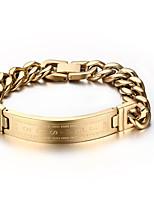 Men's Women's Chain Bracelet Punk Rock Titanium Steel Square Jewelry For Party Gift
