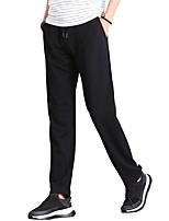 Hombre Pantalones de Running Transpirable Pantalones/Sobrepantalón para Jogging Casual Ejercicio y Fitness Algodón Corte Ancho Negro Gris
