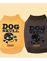Hund Pullover Hundekleidung Lässig/Alltäglich Totenkopf Motiv Grau Gelb