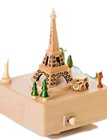 Music Box Toys Tower Famous buildings Horse Carousel Wood Iron Pieces Unisex Birthday Gift