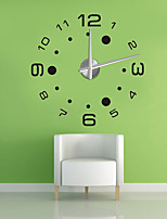 Modern/Contemporary Country Casual Office/Business Others Abstract Wall Clock,Round EVA Stainless steel Indoor/Outdoor Indoor Clock
