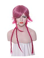 Donna Parrucche sintetiche Senza tappo Lungo Afro Rosso Dread finti Treccia di capelli Parrucca Cosplay Parrucca per festa Parrucca di