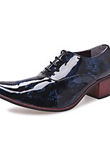 Men's Shoes Synthetic Microfiber PU Spring Fall Formal Shoes Oxfords Lace-up For Office & Career Party & Evening Blue Red Yellow White