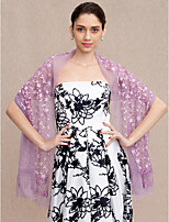 Women's Wrap Shawls Chiffon Lace Wedding Party/ Evening Lace Tassel