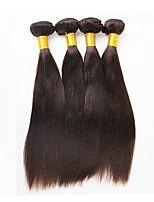 400g/4 Bundles 10-26inch Brazilian Virgin Hair Natural Black Straight Raw Human Hair Weaves