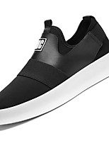 Men's Shoes Fabric Leatherette Fall Winter Comfort Sneakers For Casual Black