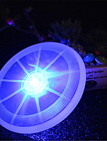 hkv® 1pcs 2w blanc rouge vert rose bleu jaune blanc chaud rgb led lumineux porte-gobelet frisbee lampe
