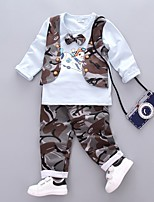 Boys' Solid Camouflage Sets,Cotton Fall Winter Long Sleeve Clothing Set