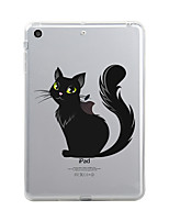 cheap -For iPad (2017) Case Cover Transparent Pattern Back Cover Case Cat Transparent Halloween Soft TPU for Apple iPad (2017) iPad Pro 12.9''