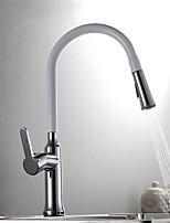 Standard Spout Centerset Ceramic Valve Chrome , Kitchen faucet
