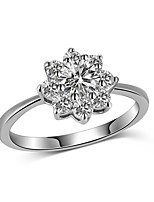 Women's Band Rings AAA Cubic Zirconia Fashion Elegant Cubic Zirconia Flower Jewelry For Wedding Evening Party