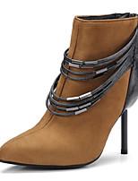 Femme Chaussures Laine synthétique Hiver Nouveauté Bottes à la Mode Bottes Gros Talon Bout pointu Bottes Mi-mollet Pour Décontracté