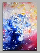 Dipinta a mano Astratto Verticale,Artistico Stile naturalistico Rustico Compleanno Moderno/Contemporaneo Ufficio Natale Capodanno Un