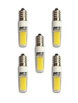 3W E14 LED Bi-pin Lights T 2 leds COB Warm White White 240lm 3000-3500/6000-6500K AC 220-240V