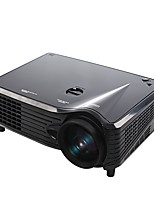 LCD WVGA (800x480) Projector,LED 2000 High Definition Business Indoor Bulb Included Portable Case Included Autres Remote Controlled USB