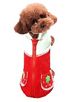 Dog Vest Dog Clothes Casual/Daily Fruit Red Orange