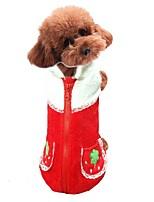 Hund Weste Hundekleidung Lässig/Alltäglich Frucht Orange Rot