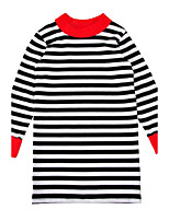 Girl's Striped Dress,Polyester Spring Fall Long Sleeve
