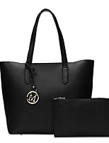 Women Bags All Seasons PU Bag Set for Casual Office & Career Black Gray