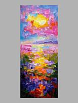 Peint à la main A fleurs/Botanique Format Vertical,Abstrait Un Panneau Toile Peinture à l'huile Hang-peint For Décoration d'intérieur