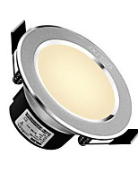 Delixi® 1Pc 5W Led Downlight Celing Light Warm White/White AC220V Size Hole 90mm 300LM 3000/6000K Beam Angle 120