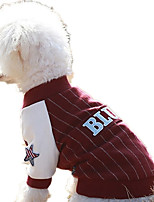 Dog Sweatshirt Dog Clothes Casual/Daily Letter & Number Red Dark Blue