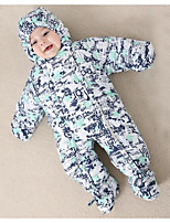Baby Print One-Pieces,Polyester Autumn Winter Long Sleeve