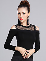 Latin Dance Tops Women's Training Modal Lace 1 Piece Long Sleeve Natural Top