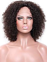 Donna Parrucche di capelli umani con retina Brasiliano Remy Lace integrale Senza colla e con tulle integrale 130% 150% 180% Densità Con