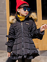 Девочки На пуховой / хлопковой подкладке Полиэстер Пэчворк Зима Длинный рукав