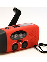 HY-088WB Radio portable Energie Solaire Torche Rouge