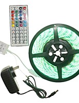 5M 300x5050LED Strip Light Sets  No Waterproof RGB 44 key controller AC100-240V AU / EU / US / UK Power Plug  DC12V 2A