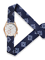 Women's Fashion Watch Quartz Water Resistant / Water Proof Fabric Band Charm Unique Creative White Blue Red