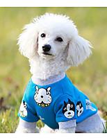Chien Sweatshirt Vêtements pour Chien Décontracté / Quotidien Dessin Animé Jaune Bleu Rose