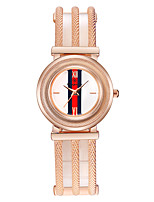 Women's Bracelet Watch Chinese Quartz Rose Gold Plated Alloy Band Luxury Silver Rose Gold