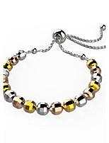 Homme Femme Chaînes & Bracelets Bijoux Mode Bohême Fait à la main Bricolage Plaqué or Forme de Cercle Forme Géométrique Bijoux Pour