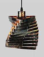 1 lampadario a sospensione della gabbia del metallo della testa dell'annata lampadario del paese di stile per le barre della cucina della