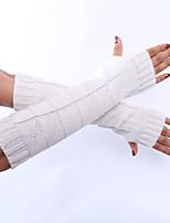 Women's Acrylic Elbow Length Half Finger,Winter Gloves Solid Spring/Fall Winter